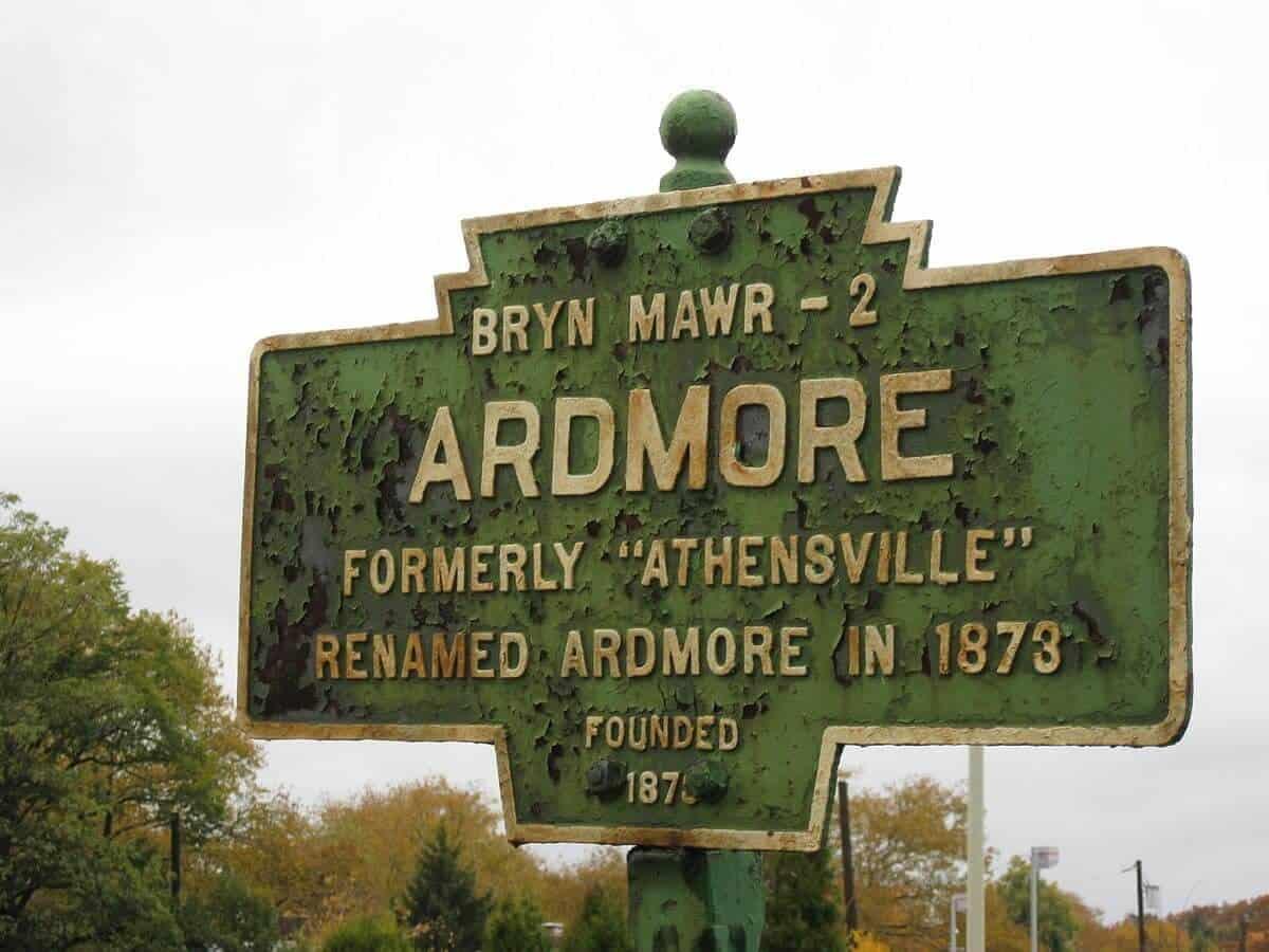 Ardmore Philadelphia Keystone Marker Sign