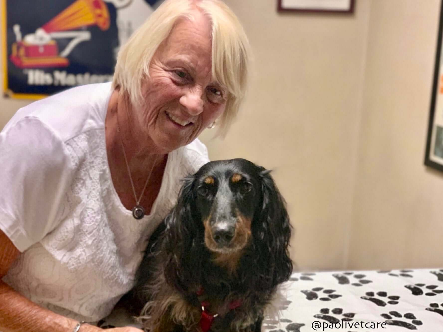 A longtime client and her sweet pup