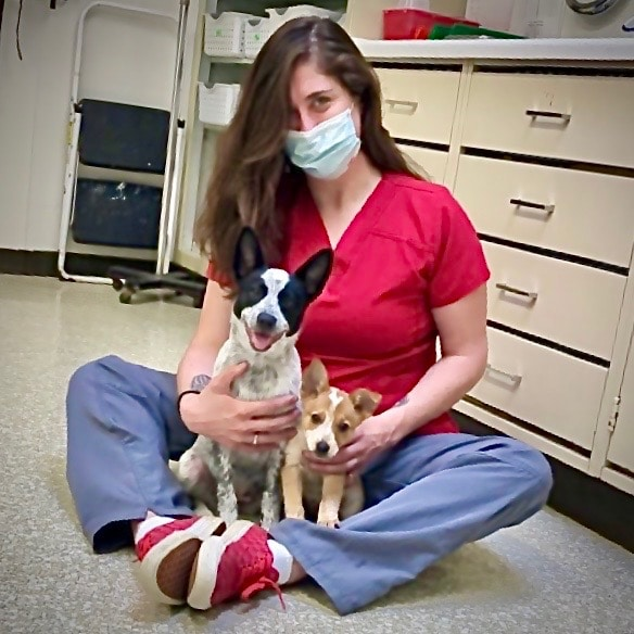 Office Manager Emily with new patients
